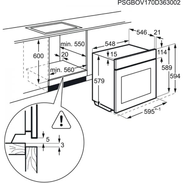 AEG BPS551020M Built-In Single Oven