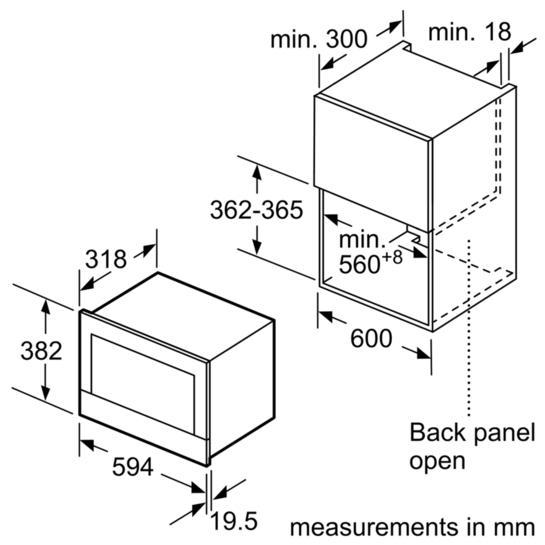 Bosch BFL634GB1B Built-In Microwave