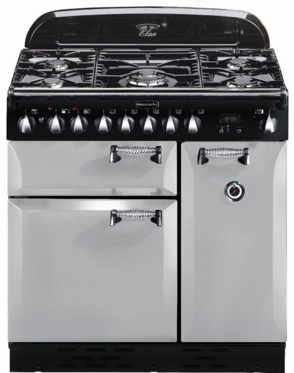 Rangemaster ELAS90DFFRP/ 100680 Elan 90cm Royal Pearl Dual Fuel (EX DISPLAY)