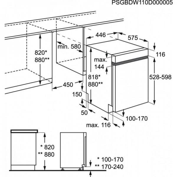 AEG FEB52600ZM Fully Integrated 60cm Dishwasher