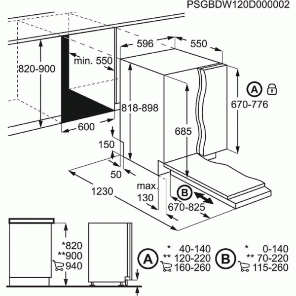 AEG FSS62800P 60cm Integrated ComfortLift Dishwasher (EX DISPLAY)