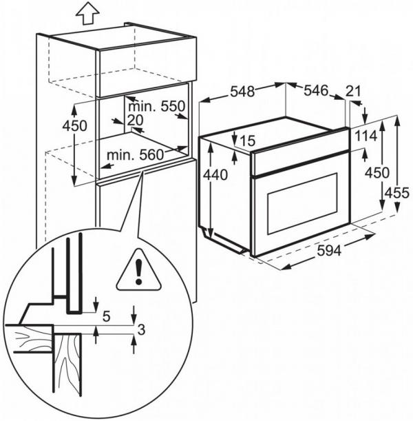 AEG KME721000M Built-In Combi Microwave Oven
