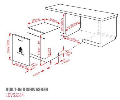 Blomberg LDVS2284 Built-In Slimline Dishwasher