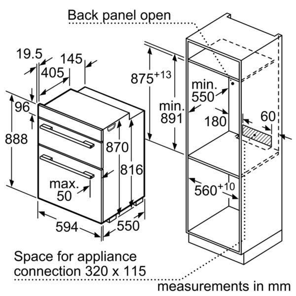 Bosch MBS533BS0B Built-In Double Oven