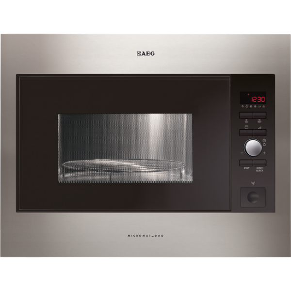 AEG MCD2664E-M Built-In Microwave Oven with Grill