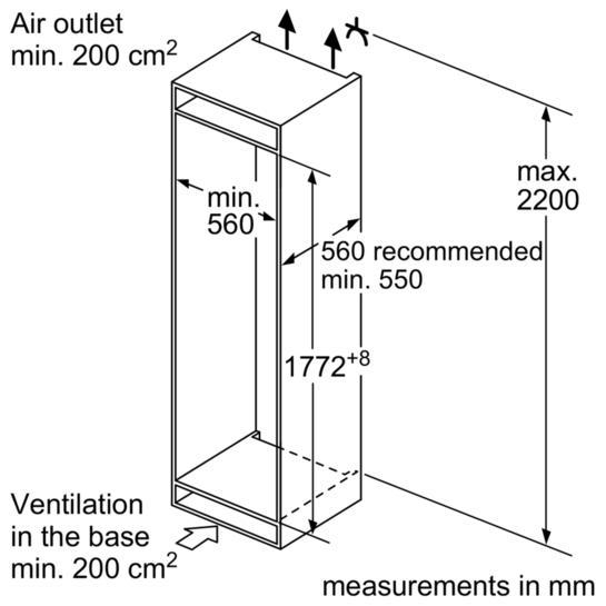 Bosch KIS86AF30G Integrated 60/40 Fridge Freezer
