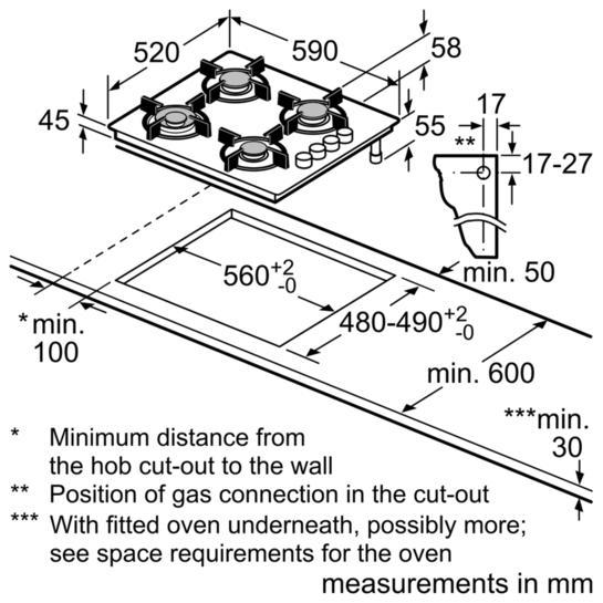 Bosch POP6B6B80 60cm Gas Hob (Grade B)