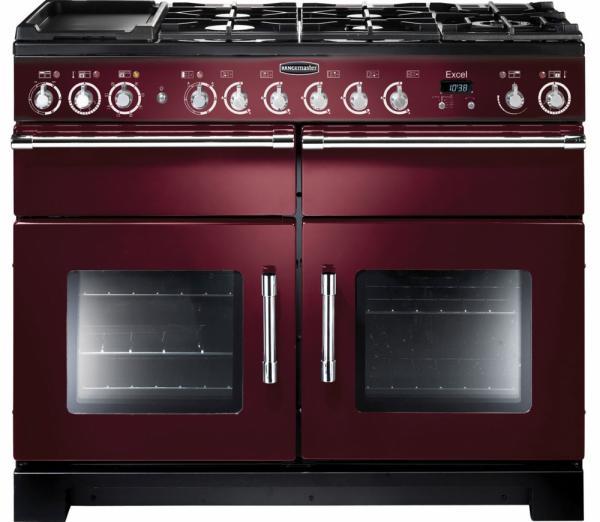 Rangemaster EXL110DFFCY/C 105560 Excel 110cm Cranberry Red Dual Fuel Range Cooker