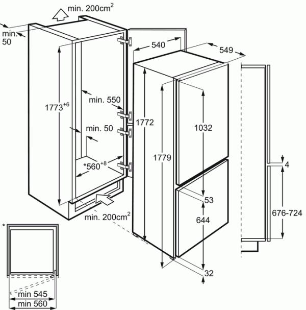 AEG SCE8181VTS Integrated 70/30 Fridge Freezer