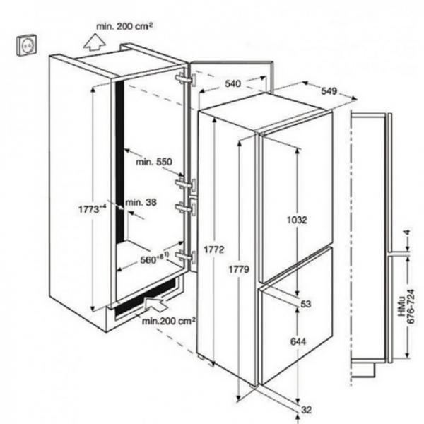 AEG SCS8181ETS Built-In Frost Free Fridge Freezer