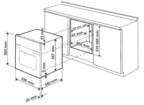 Hotpoint SH83CKS Built-In Single Oven