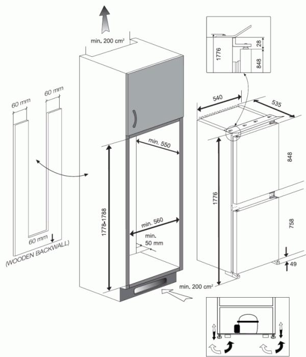 Blomberg KNM4561I Integrated Fridge Freezer