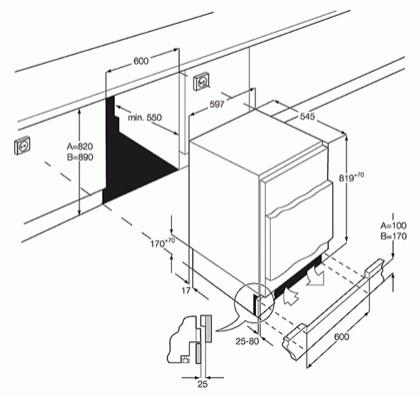 AEG ABB68211AF Integrated Under Counter Freezer