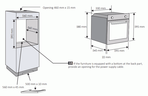 Candy FCP405X Single Oven
