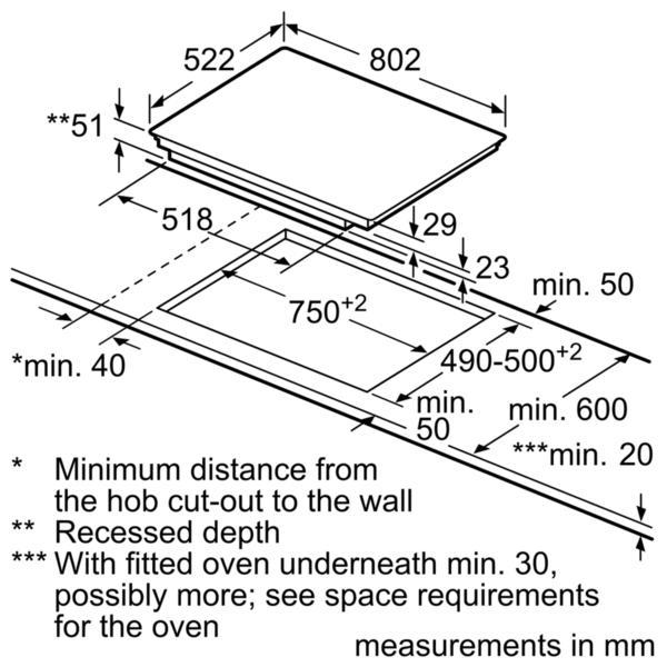 Neff T51T86X2 FlexInduction Hob (EX DISPLAY)