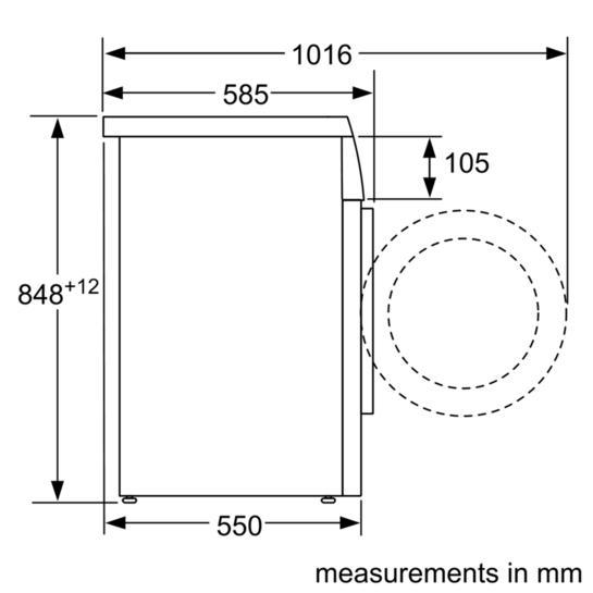 Bosch WAQ2836SGB Freestanding Washing Machine