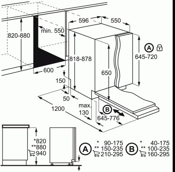 Zanussi ZDT24003FA 60cm Integrated Dishwasher