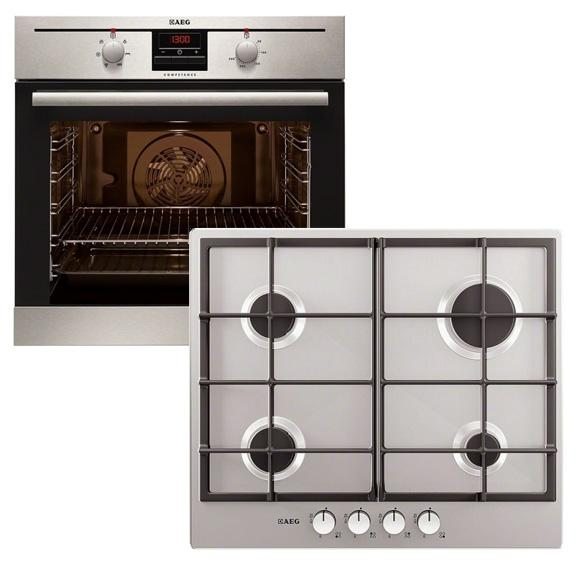 AEG APGF5030M Single Oven & Gas Hob Pack
