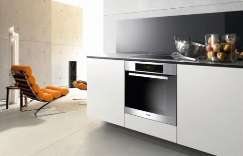 miele h5681b single oven in stainless steel or black. Black Bedroom Furniture Sets. Home Design Ideas
