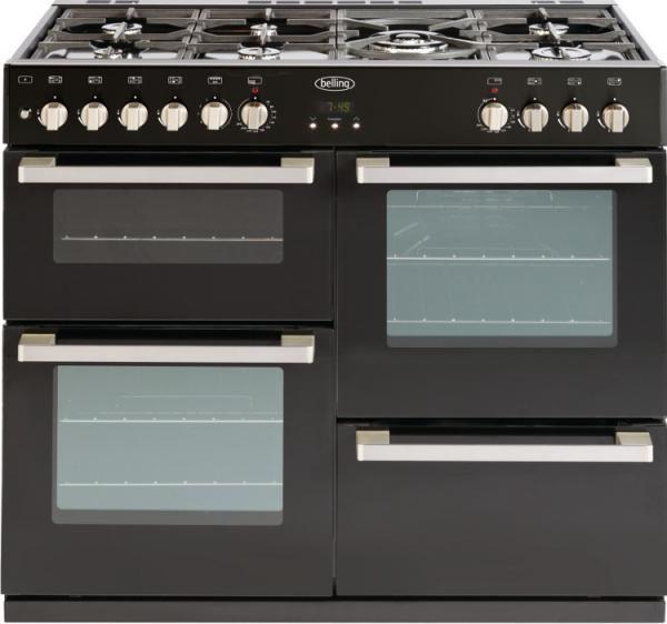 Belling 444443015 DB4 100DF Black Dual Fuel Range Cooker (EX DISPLAY)