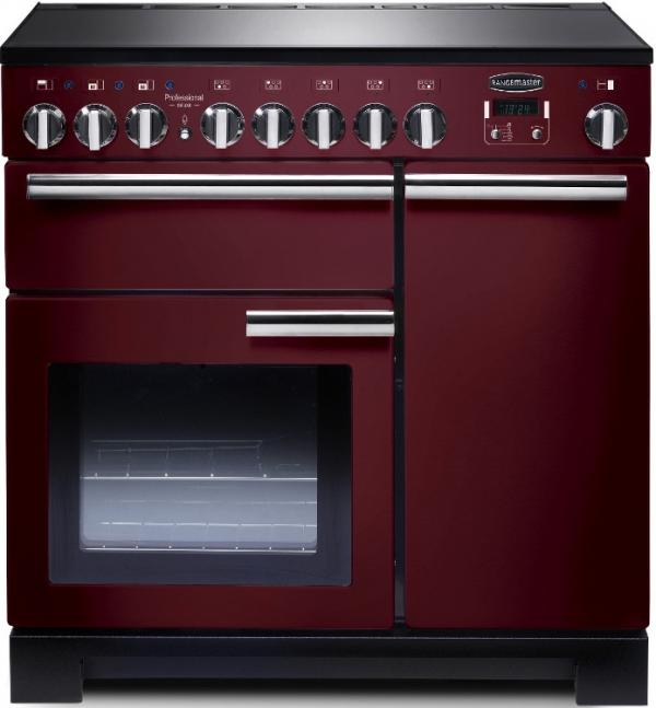Rangemaster PDL90EICY/C 97890 Professional Deluxe 90cm Cranberry Induction Range Cooker