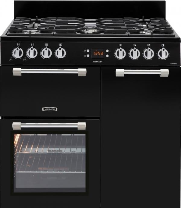 Leisure CK90G232K Black Cookmaster 90cm Gas Range Cooker