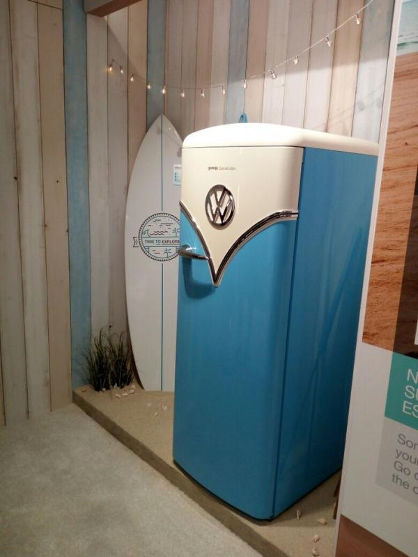 Gorenje Obrb153bl Vw Retro Blue Fridge With Ice Box