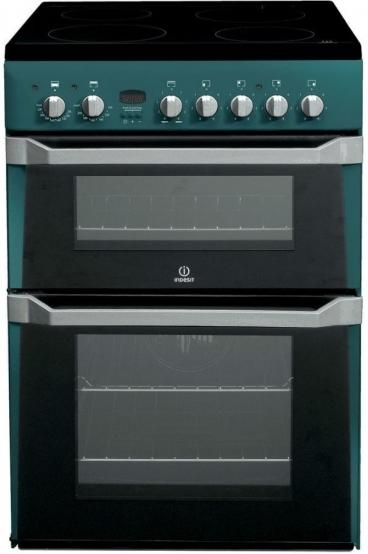 Indesit ID60C2N Ceramic Cooker Green