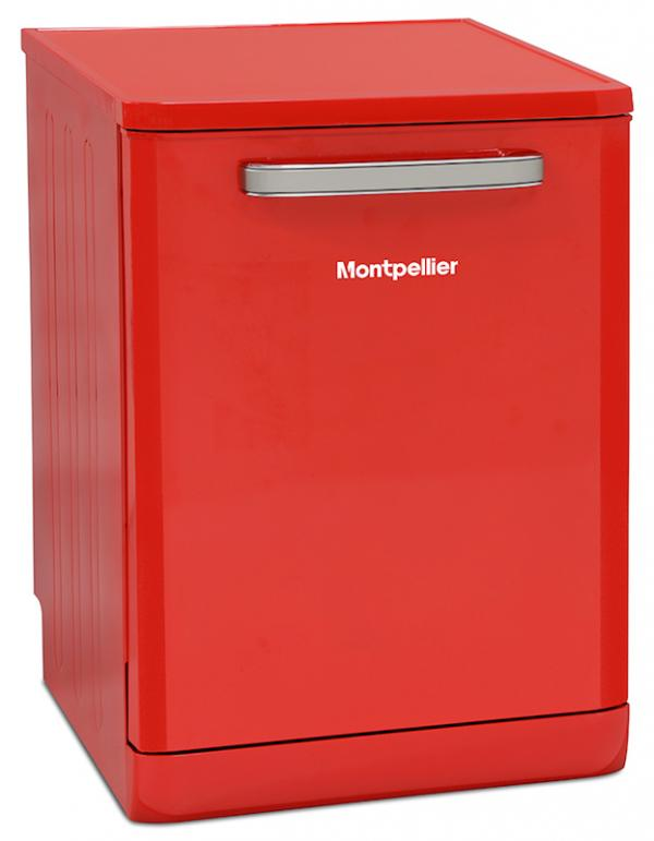 Montpellier MAB600R 60cm Red Retro Dishwasher