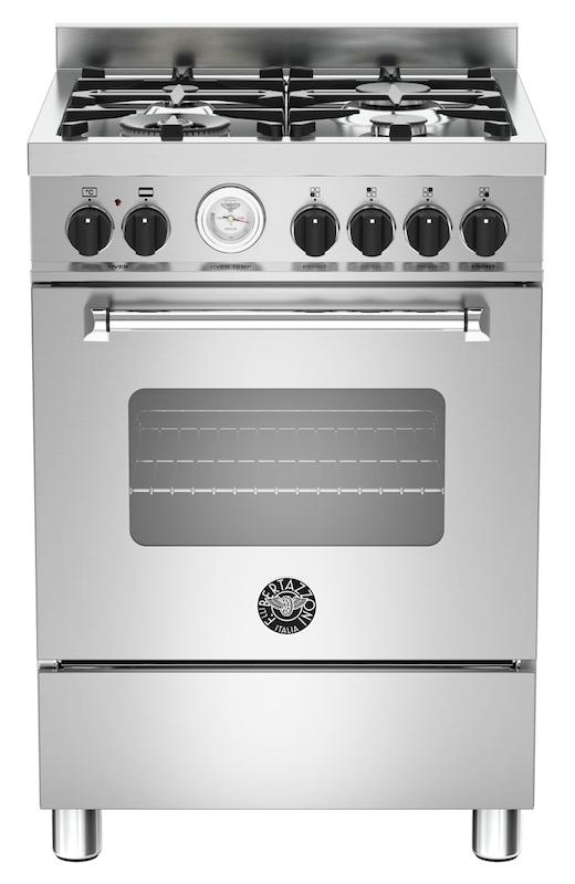 Bertazzoni MAS60-4-MFE-S-XE Master 60cm Stainless Steel Dual Fuel Cooker