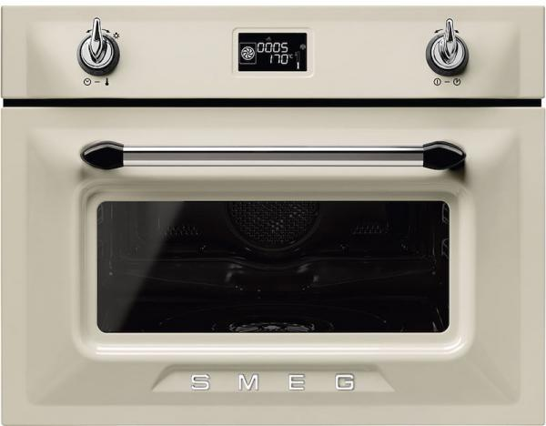 Smeg SF4920VCP1 45cm Built-In Cream compact steam combination oven