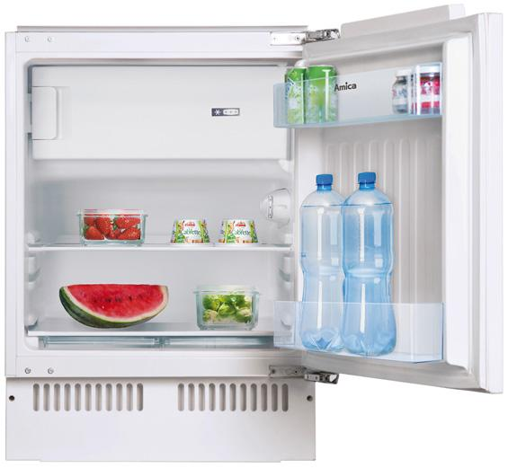 Amica UM130.3 Built-Under Fridge with Ice Box