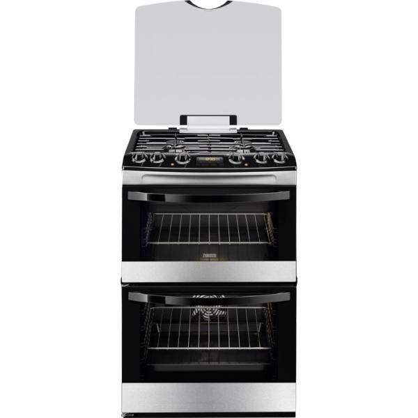 Zanussi ZCK68200X THERMAFLOW Freestanding 60cm Double Cavity Mixed Fuel Cooker