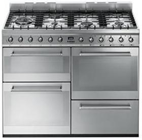 Smeg SYD4110 110cm Symphony Stainless Steel Dual Fuel Range Cooker
