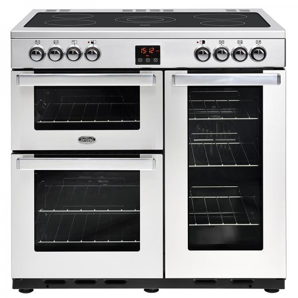 Belling 444444072 Professional Stainless Steel Cookcentre 90E Electric Range Cooker