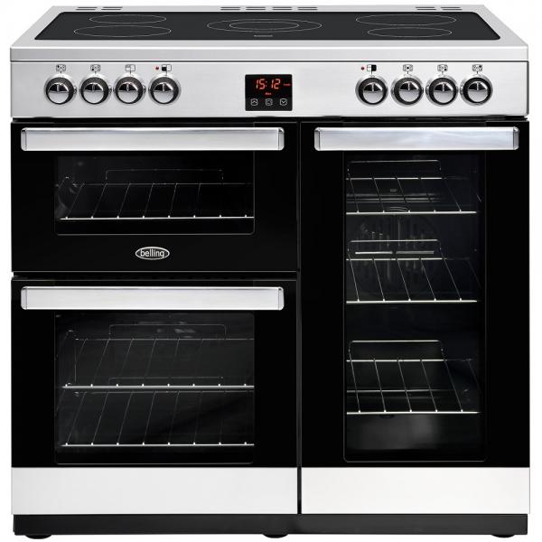 Belling 444444073 Stainless Steel Cookcentre 90E Electric Range Cooker