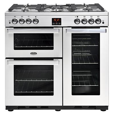 Belling 444444076 Stainless Steel Cookcentre 90G Gas Range Cooker
