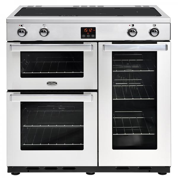 Belling 444444078 90EI Professional Stainless Steel Cookcentre Induction Range Cooker