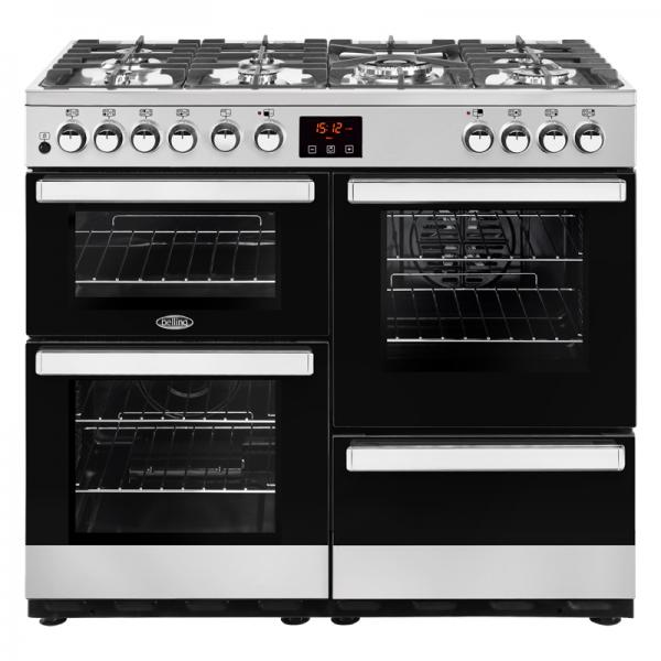 Belling 444444082 Stainless Steel 100DFT Cookcentre Dual Fuel Range Cooker
