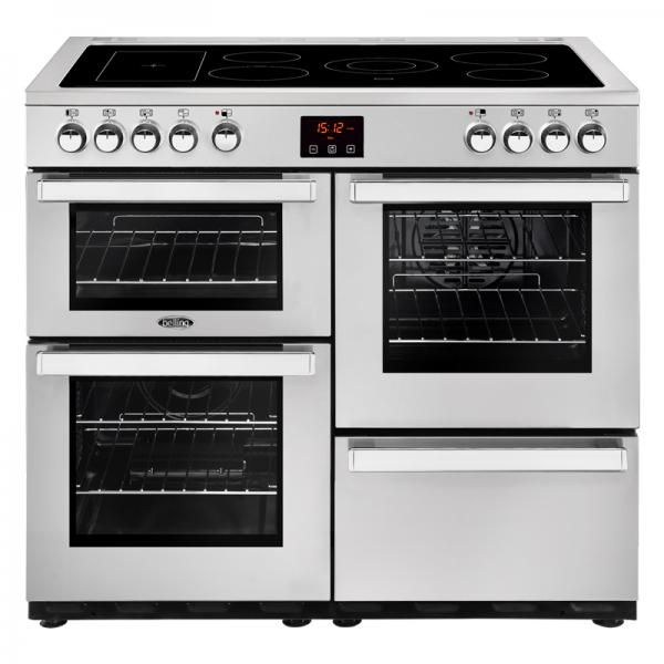 Belling 444444084 Professional Stainless Steel 100E Cookcentre Electric Range Cooker