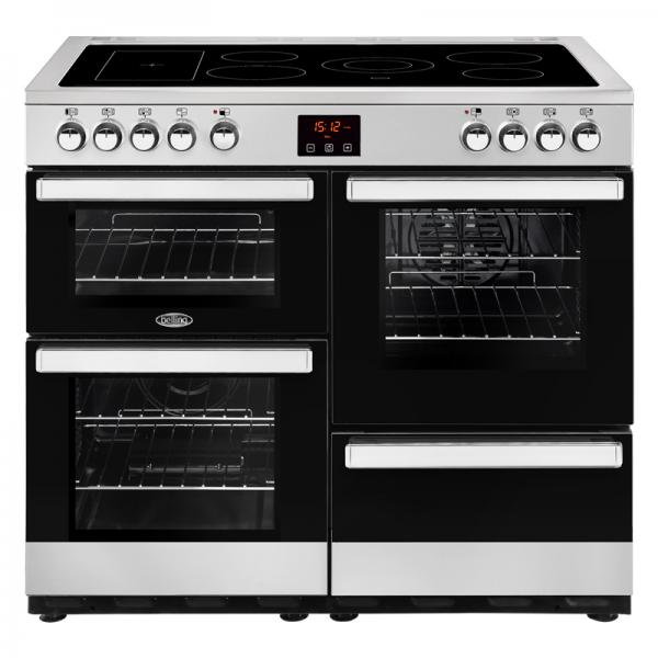 Belling 444444085 100E Stainless Steel Cookcentre Electric Range Cooker