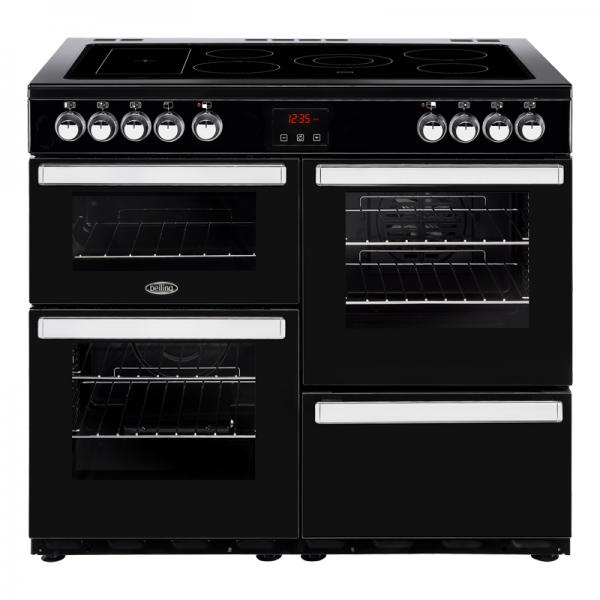 Belling 444444086 100E Black Cookcentre Electric Range Cooker
