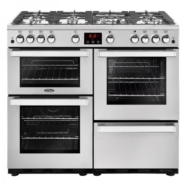 Belling 444444087 Professional Stainless Steel 100G Cookcentre Gas Range Cooker