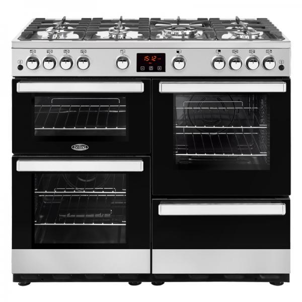 Belling 444444088 Stainless Steel 100G Cookcentre Gas Range Cooker