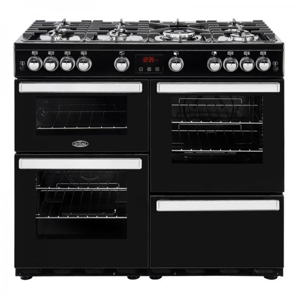 Belling 444444089 Black 100G Cookcentre Gas Range Cooker