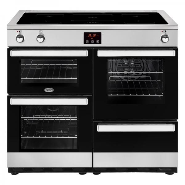 Belling 444444091 Stainless Steel 100EI Cookcentre Electrical Induction Range Cooker