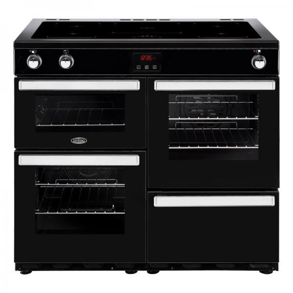 Belling 444444092 Black 100EI Cookcentre Induction Range Cooker