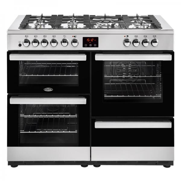 Belling 444444094 110DFT Stainless Steel Cookcentre Dual Fuel Range Cooker