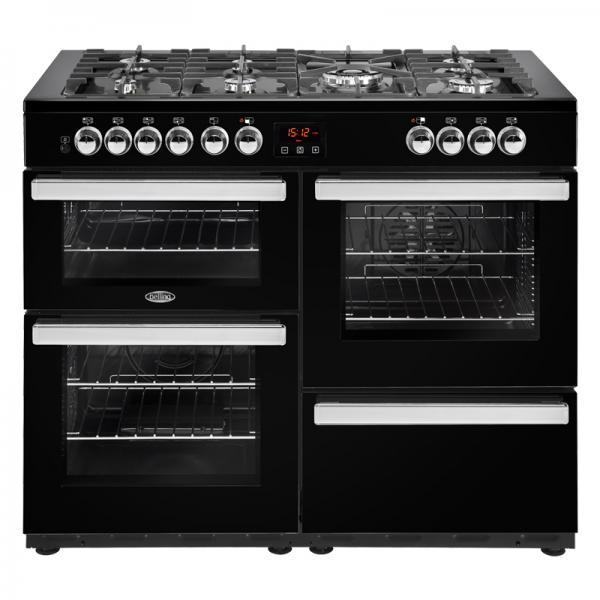 Belling 444444095 Black 110DFT Cookcentre Dual Fuel Range Cooker