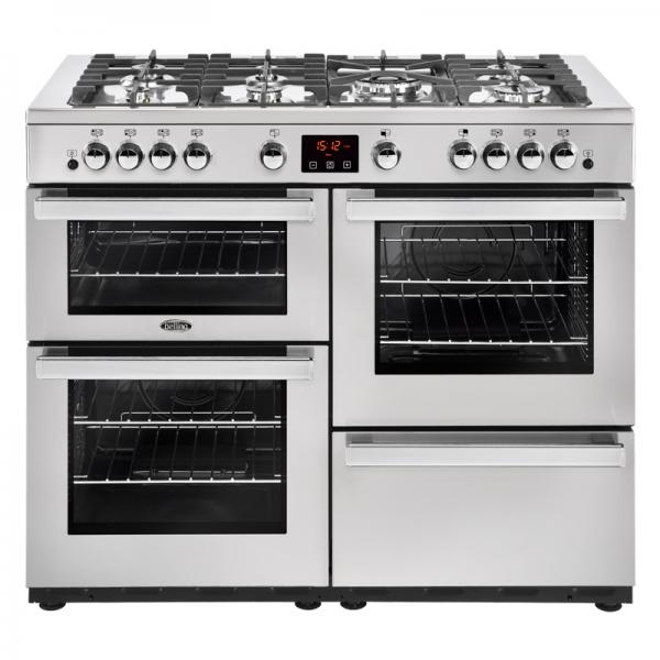 Belling 444444099 Professional Stainless Steel 110G Cookcentre Gas Range Cooker